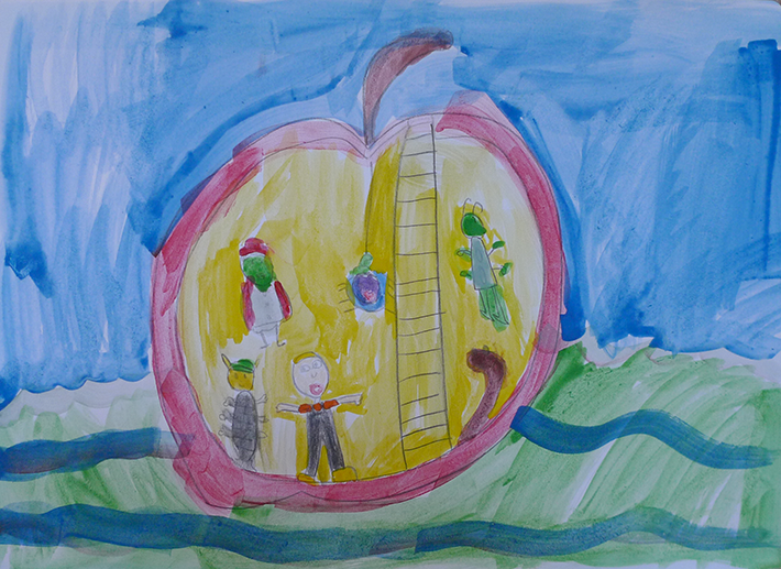 Sim1 as James i James and the Giant Peach